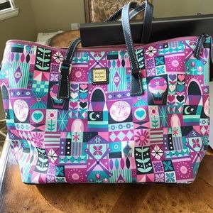 Disney Dooney and Bourke Small World Tote Used